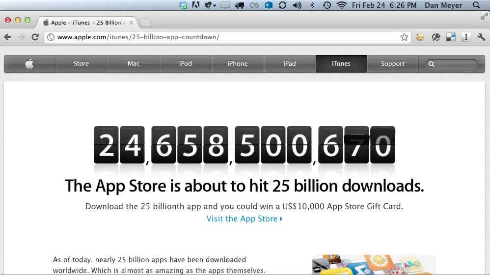 25 Billion Apps