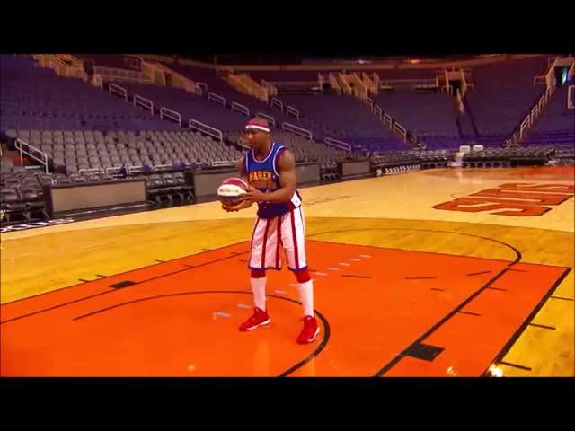 Harlem Globetrotter Backwards Shot