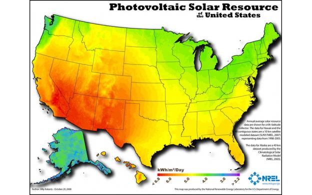 US Solar Resources Qs - Solar map us
