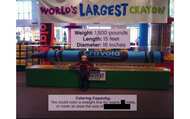 world s largest crayon 101qs