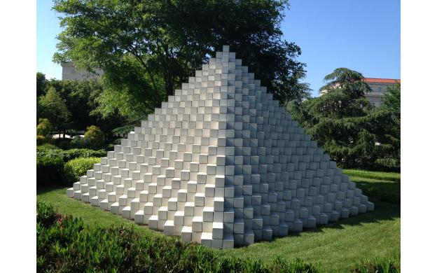 four sided pyramid by sol lewitt 101qs