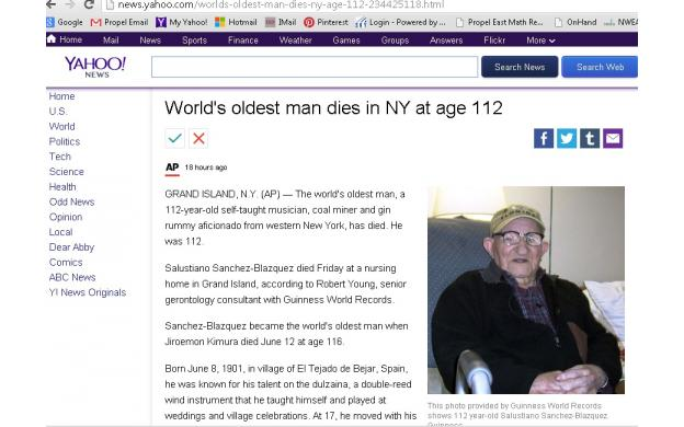 oldest man