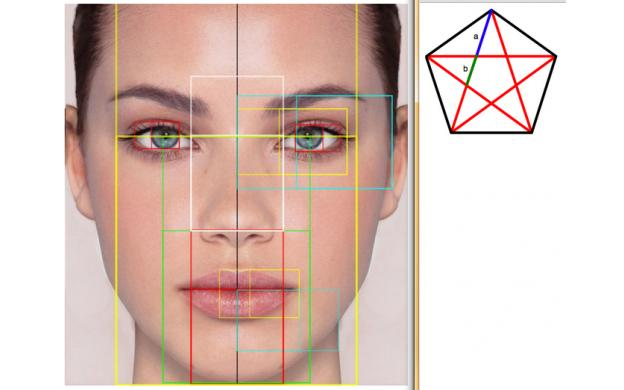 Facial symmetry golden ratio