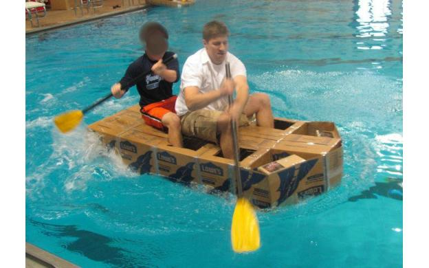 can a cardboard boat float essay