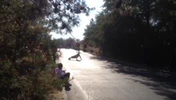 skateboarding flatspins