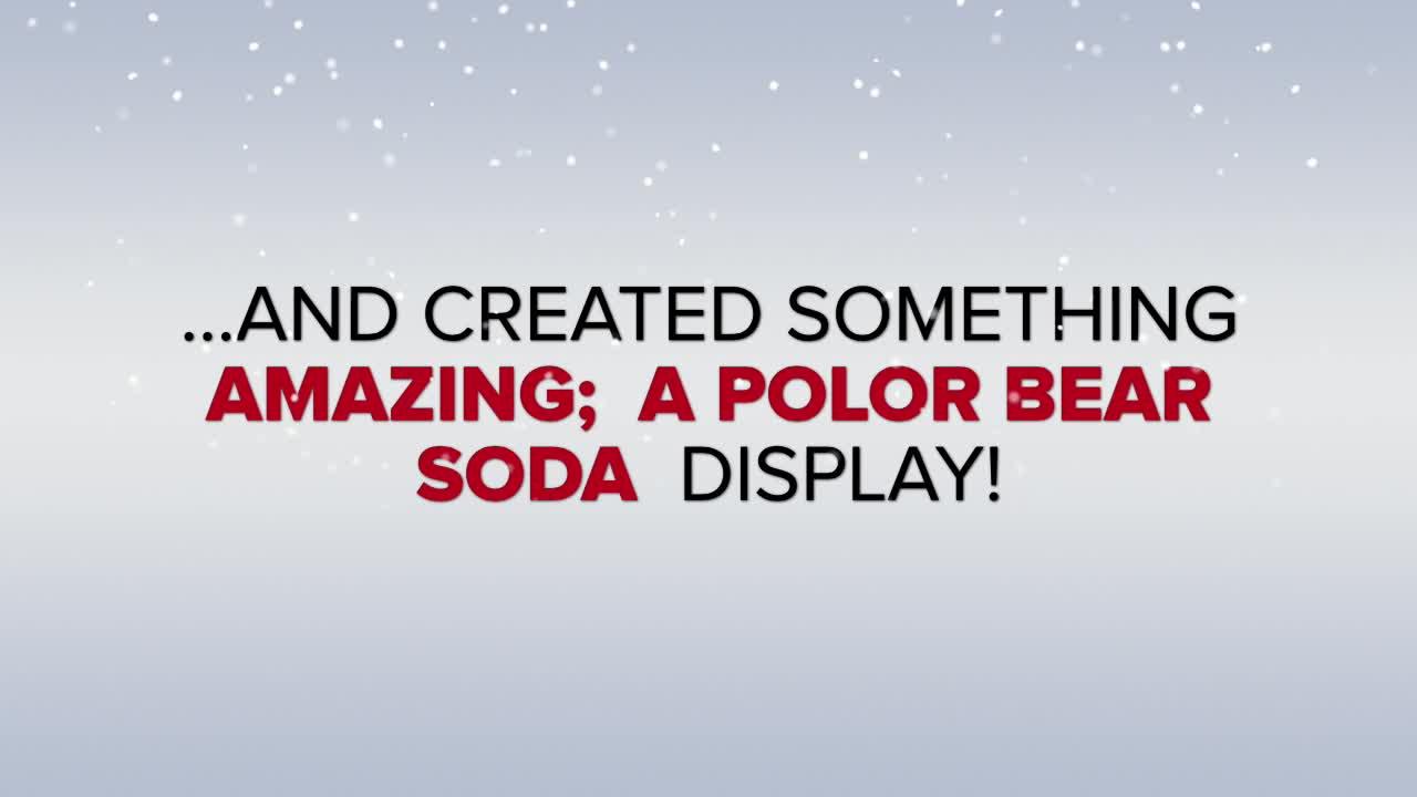 Polar Bear Soda Display