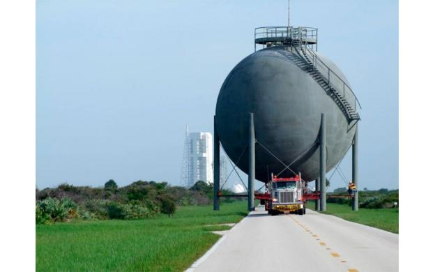 Moving the Natural Gas Tank