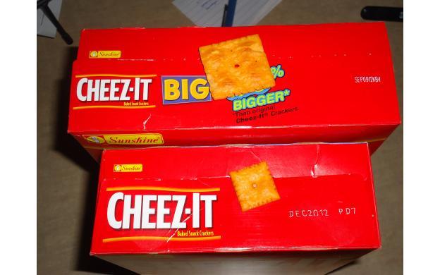 Cheez-It's so big!