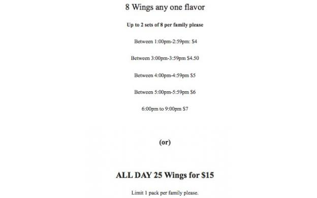 Buffalo Wings Sale