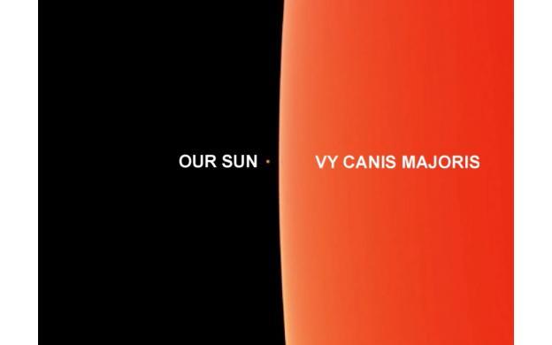 biggest star compared to sun - photo #21