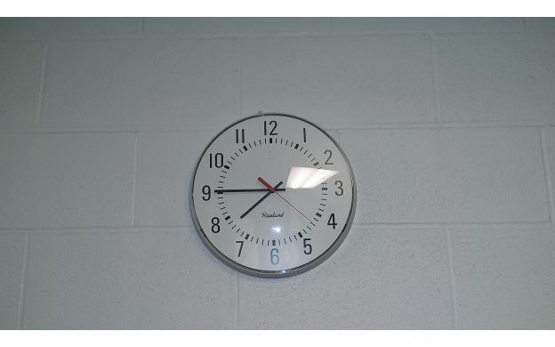High school and clock