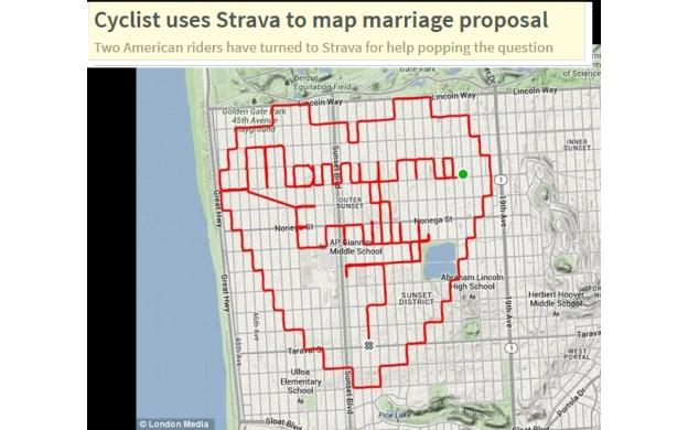 A cyclist's marriage proposal