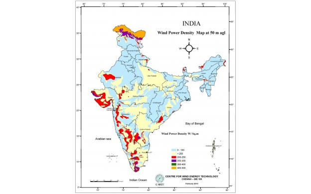 Wind potential in India