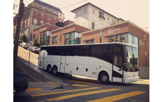 It said, no buses allowed