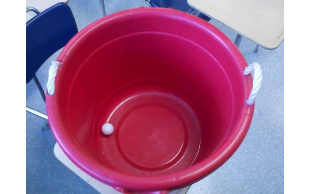 Golf Ball in a bucket