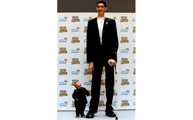 Tallest and Shortest Man