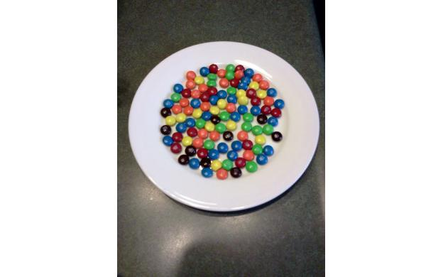 Plate of M&Ms