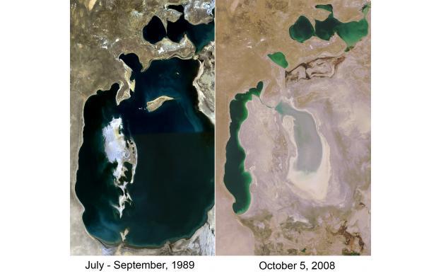 The Aral Sea in Kazakhstan