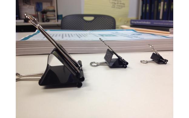 Binder Clips: Large, Medium, Small