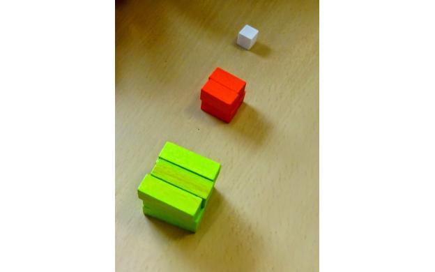 Cuisenaire rod cubes