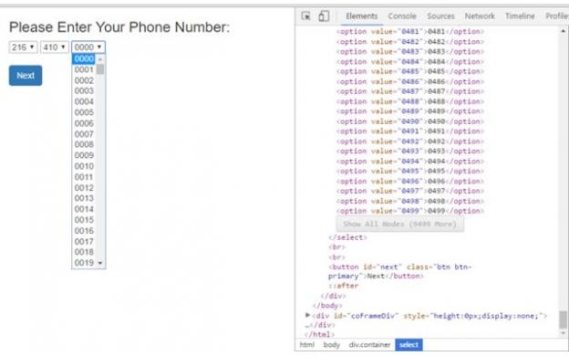 Inefficient Phone Number Entry