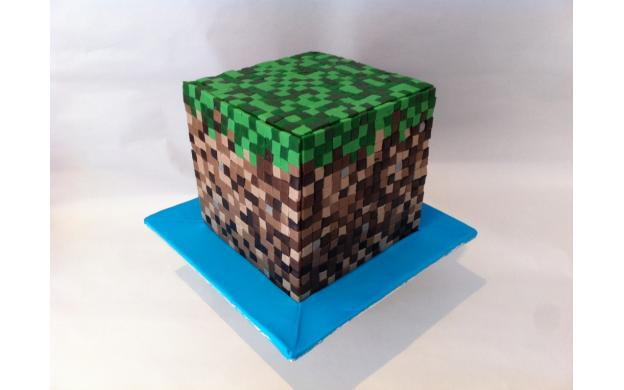 Frosted Cube Cake