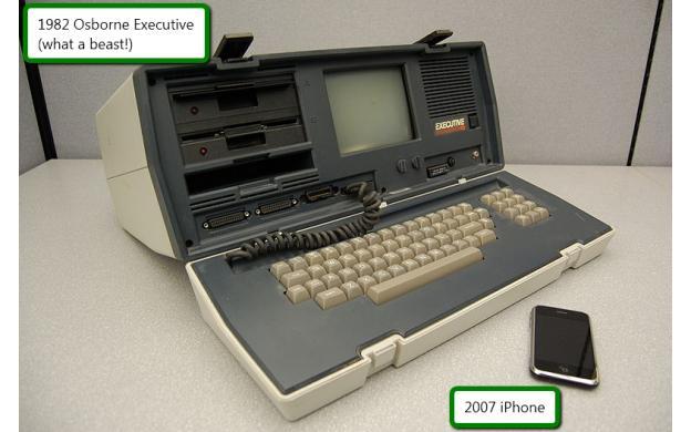 1982 Osborne Executive vs 2007 iPhone