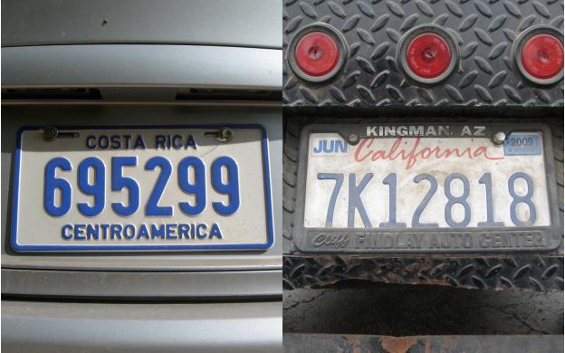 Transcontinental License Plates